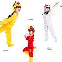 Kinderen Rol Kostuum Rode Haan Geel Wit Hens Animal Kostuums Kleding Ballroom Dance Custome