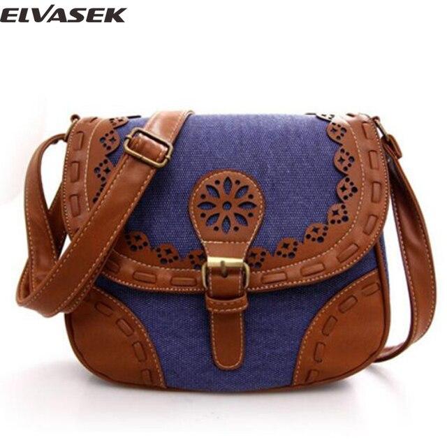 e25705526667 Elvasek Мини женские сумки-мессенджеры женские сумки на одно плечо с  панелями Холщовая Сумка Женская
