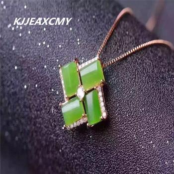 d0dbc24ecdc5 Kjjeaxcmy boutique joyería Jade con incrustaciones de plata 925 joyería