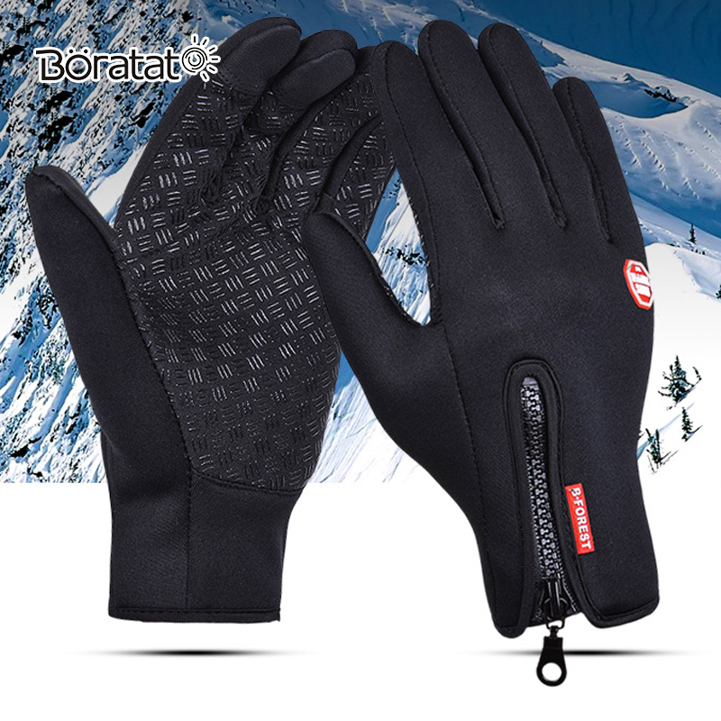 Skii Gloves Anti Slip Windproof Thermal Warm Touchscreen Glove Breathable Tactico Winter Men Women Zipper Gloves