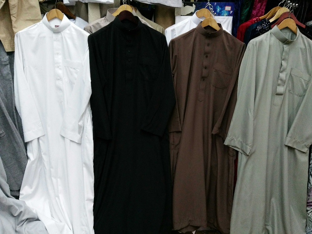 Free shipping Muslim Islamic Clothing for men Arabia Islamic abaya Men's Kaftan Jubba islam Apparel men thobe 2704