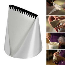 Extra Large Stainless Steel Nozzle Icing Piping Nozzles Cream Cake Decorating Tools Pastry Tip Fondant Baking Accessories cheap Art lalic Dessert Decorators CE EU Cake Tools Eco-Friendly 273936327870 Silver Cake making