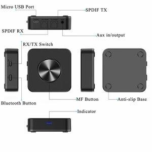 Image 2 - ATPX HD APTX LL CSR8675 Bluetooth 5.0 Zender en Ontvanger Adapter 3.5mm/SPDIF/Digitale Optische Toslink voor TV Auto speaker