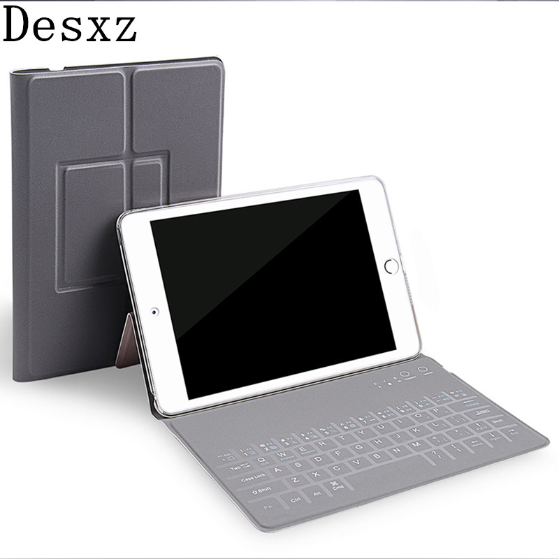 Desxz Case for iPad 1/2/3/4 Wireless Bluetooth keyboard 7.9 inch PU Protective Ultra thin Tablet Cover for tablet mini kindle
