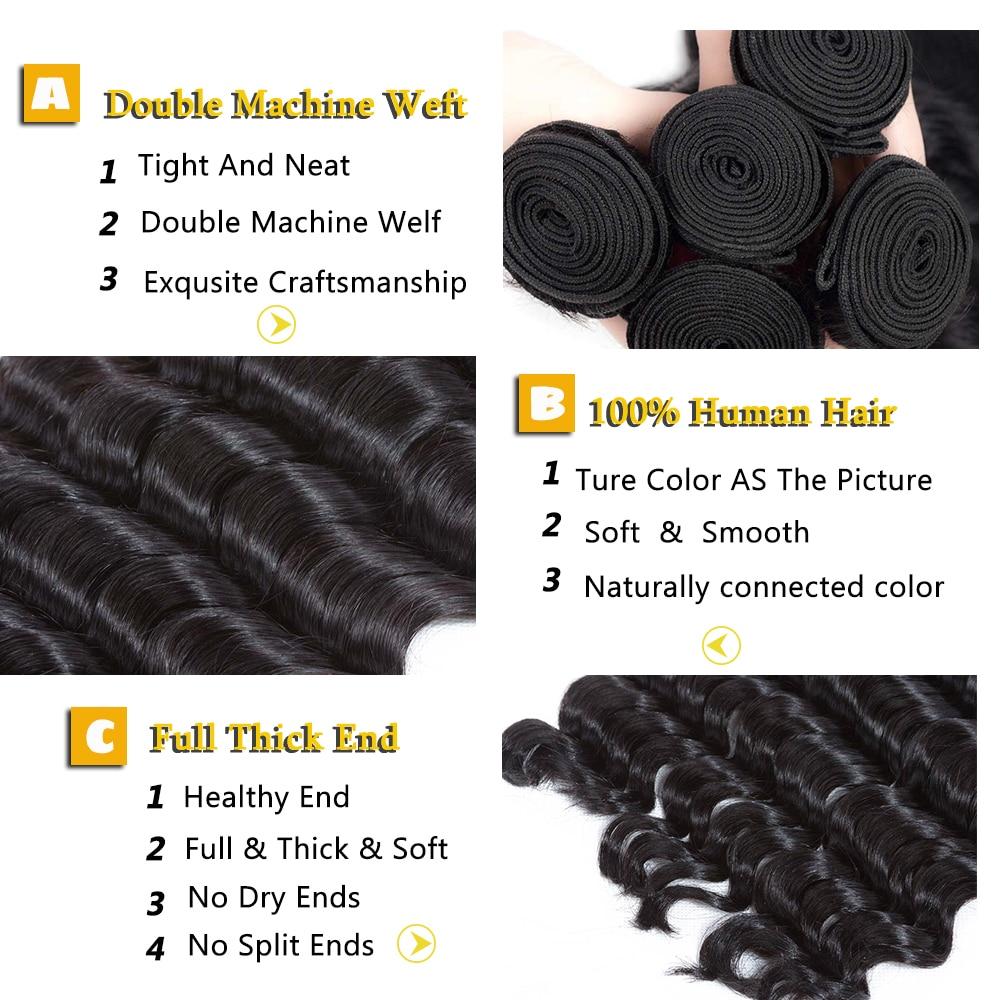 Peruvian Hair Bundles Loose Deep Wave Human Hair Extensions Remy Hair Can Buy 4 Or 3 Bundles Natural Color 1 Piece Hair Weave