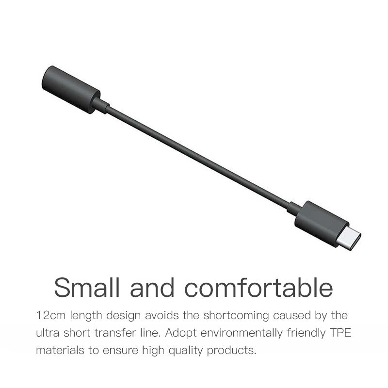 For Huawei Xiaomi  AUX Audio Cable Type C To 3.5 Headphone Adapter USB Type-C To 3.5mm Jack Earphone Converter For Mi 6 Letv