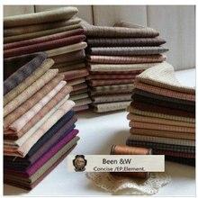 DIY Япония маленькая ткань группа Пряжа-окрашенная ткань, для шитья Лоскутное шитье ручной работы, сетка полоса точка случайный 20 стиль/лот 25*24