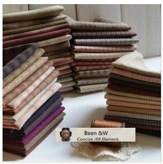 DIY Япония немного ткань группы Пряжа-окрашенные ткани, для шитья ручной работы лоскутное стежка, в клетку в полоску и горошек случайный 20 Стиль/lot 25*24