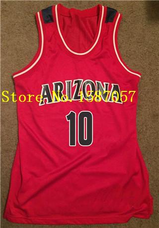 6dd2c4586ff 10 Mike Bibby Arizona Wildcats Basketball Jersey Retro Throwback ...