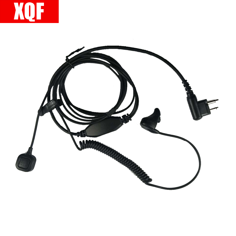 2 Pin Earpiece Ear Bone Vibrate Finger PTT Headset For Motorola GP Series: GP2000, GP2100, GP300, GP 308, GP68, GP88, GP88 Radio
