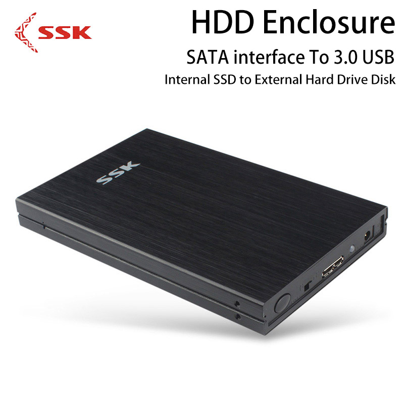 SSK HDD Enclosure 2.5 Inch SATA To 3.0 USB Internal SSD to External Hard Drive Disk Case HE-G300 Hard Disk Box for Computer D high quality 3 5 hdd enclosure sata to usb 3 0 external hard disk case black aluminum hdd box for computer