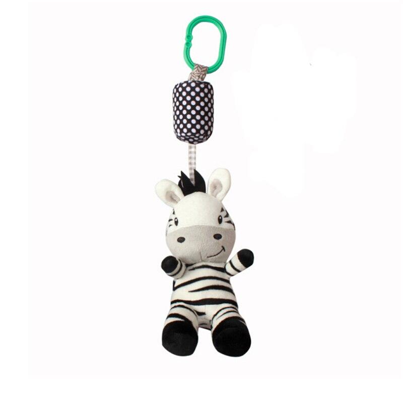 2019 Nieuwste Ontwerp Cartoon Leuke Zwart Wit Zebra Baby Rammelaar Speelgoed Dieren Bed Bell And Wandelwagen Hangen Boutique Auto Opknoping