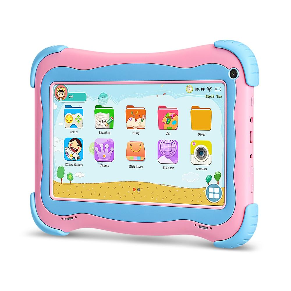 Yuntab розовый 7 дюймов Q91 Android5.1 планшеты PC 4 ядра 1 ГБ + ГБ 16 сенсорный экран 1024*600 Iwawa программы для компьютера Игры развивающие