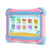 Yuntab pink 7 Inch Q91 Android5.1 Tablet PC Quad Core 1GB+16GB touch screen 1024 X 600 Iwawa Software Games Educational