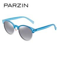 PARZIN Merk Retro Ronde Frame Gepolariseerde Zonnebril Damesmode Kleurrijke Brillen Vrouwelijke's Rijden Bril Best Gift 9866