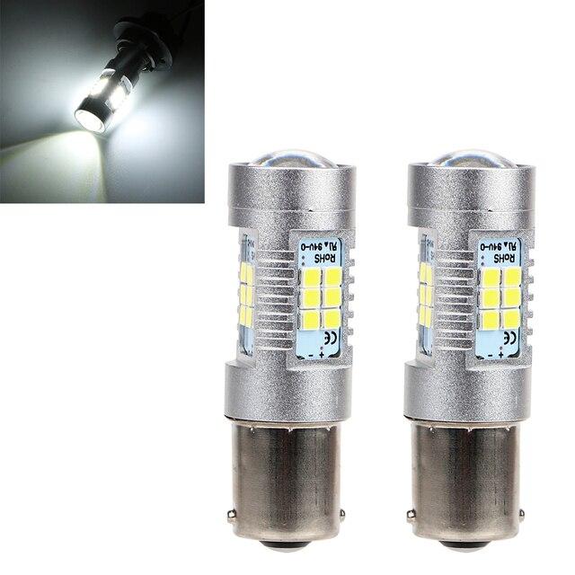 Itimo vire bulb signal 1156 2835 21smd carro-styling 1 par Lente do farol DC12V Carro Branco Lâmpada LED DRL Carro Universal lâmpada