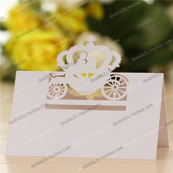 50pcs Lot Free Shipping Rumpkin Carriage Wedding Invitations Party