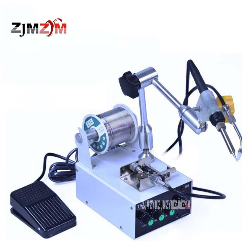 TSL-3100 Multi-function Soldering Machine Automatic Tin Feeding Machine Tin Feeder for Solder Station 60W 220V 0-150mm Hot Sale automatic tin feeding machine constant temperature soldering iron teclast multi function foot soldering machine f3100a