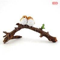 Everyday Collection Miniature Fairy Garden Terrarium Lover Birds On Branch Statue Small