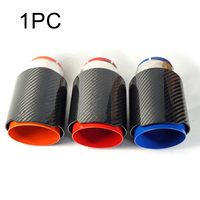 Car Exhaust Systems matte Carbon Muffler Tip Tail End Universal Stainless stee Straight Flange Sandblasting Car Styling