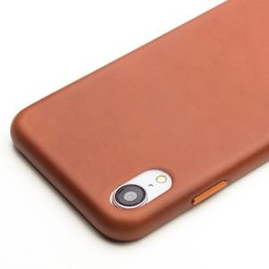 Image 3 - QIALINO stylowy prawdziwej skóry skórzane etui do Apple iphone XR 6.1 cali Ultra cienki ręcznie Anti knock tylna pokrywa dla iphone XR