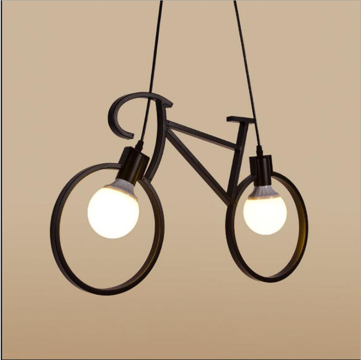 Nordic  artistic  bicycle chandelier Restaurant bedroom lamps childrens room features a balcony hallway aisle lights, AC110-240Nordic  artistic  bicycle chandelier Restaurant bedroom lamps childrens room features a balcony hallway aisle lights, AC110-240
