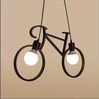 Nordic  artistic  bicycle chandelier Restaurant bedroom lamps children's room features a balcony hallway aisle lightsAC110-240