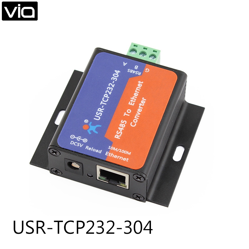 USR TCP232 304 Direct Factory New Arrival RS485 to TCP/IP Server RS485 to Ethernet Converter Support Built in Webpage