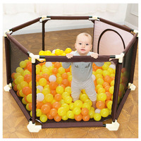 0~5 Years Baby Kids Plastic Playpen Toddler Crawling Folding Playinghouse Protection Safety Care Fence Playpens with Ocean Balls