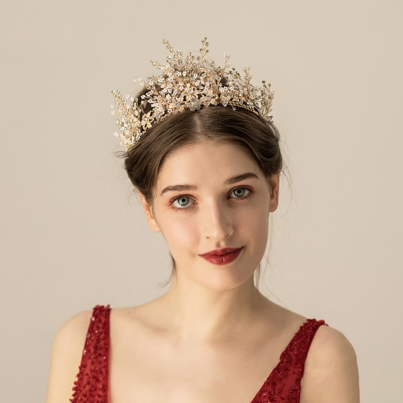 Wedding Bride Crystal Crown Hot Headband wedding accessories Fashion Queen For Wedding Crown Headpiece Wedding Hair JQ569