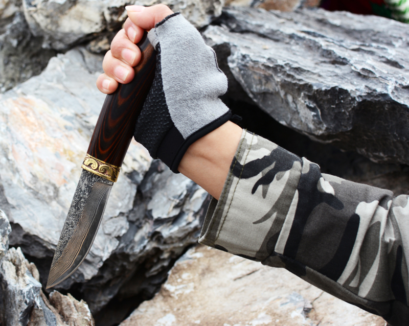 Voltron Damascus Steel Knife, hand-forged straight knife, high hardness camping outdoor knife collection gift knife farm hand forged spring steel sickle king chai sickle weeding knife grinding the blade free firewood
