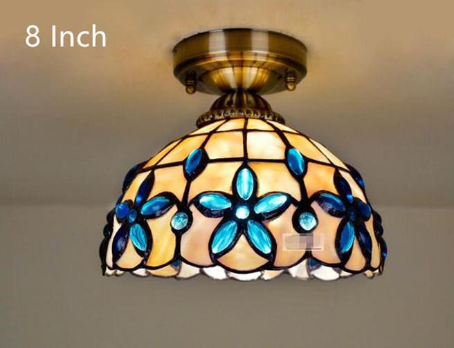 Blue Lilac Ceiling Light 14