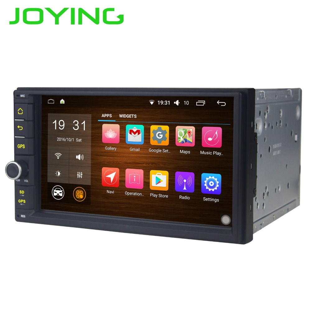 JOYING Double Din Car Stereo Universal Car Radio No DVD/CD Player Android 6.0 Support Subwoofer DAB+ OBD2 DVR Camera Bluetooth