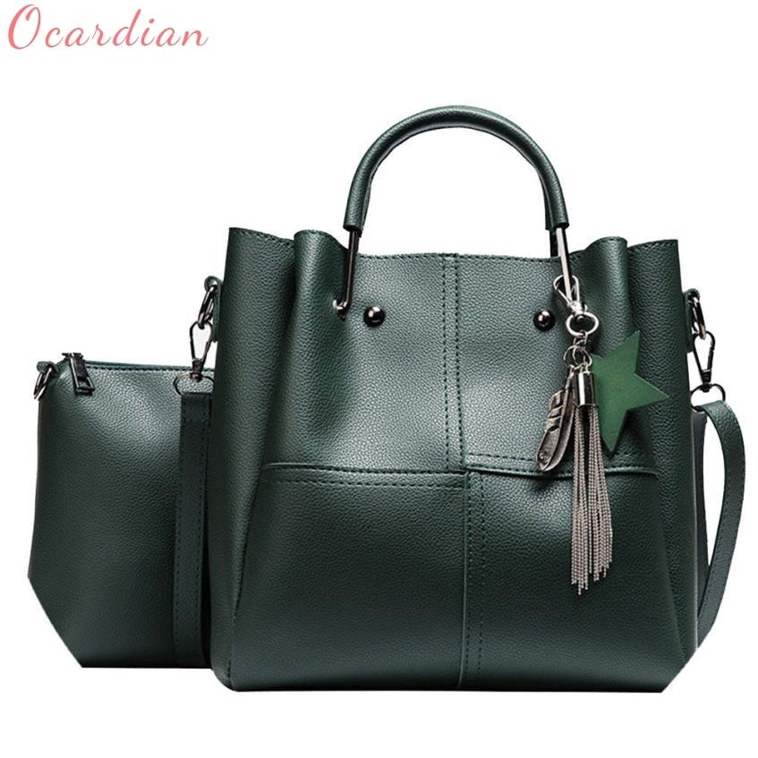 Hot Sale 2pcs Women Bag High Quality Star 2 Set Fashion Handbag Zipper Bag Shoulder Bag Clutch Tote Ladies Purse High Quality Luggage & Bags