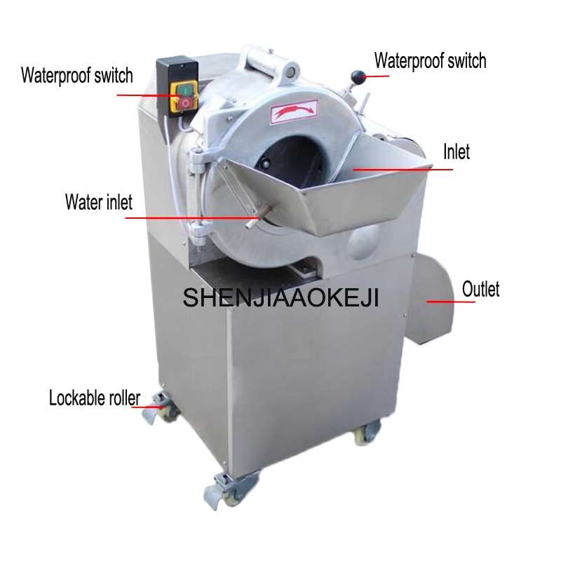 CHD-100 Dicing machine Commercial stainless steel multifunctional vegetable cutter vegetable spiral slicer 220V 1PC free shipping ht 4 commercial manual tomato slicer onion slicing cutter machine vegetable cutting machine