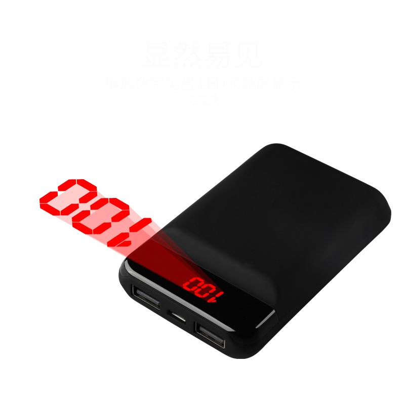12000mAh Mini <font><b>Power</b></font> <font><b>Bank</b></font> Portable Charger Dual USB Mobile Phone External Battery Fast Charge For iphone <font><b>xiaomi</b></font> mi mini PowerBank image