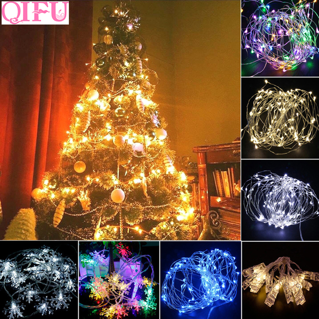 qifu led string light christmas tree decor christmas ornaments christmas decorations for home 2018 new year - How To String Lights On A Christmas Tree