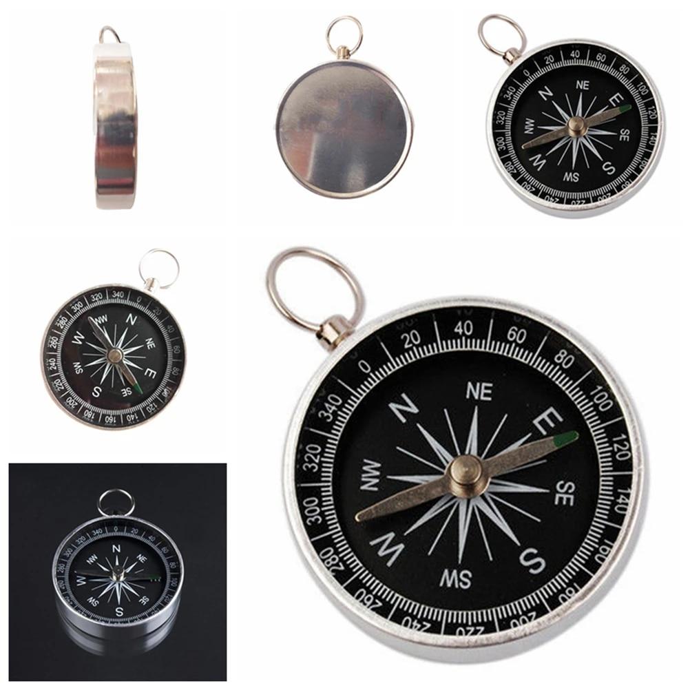 Triamisu Navigation Instrument Compass Black pockets Mini Camping Hiking Compasses Lightweight Aluminum Outdoor Travel Compasses Navigation Wild Survival Tool Black