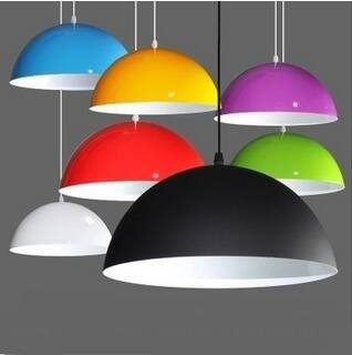 Simple Color Shade Creative Office Restaurant Single Head Pendant Lights Round Barber Hotel Fixtures Lamp Fg488t109