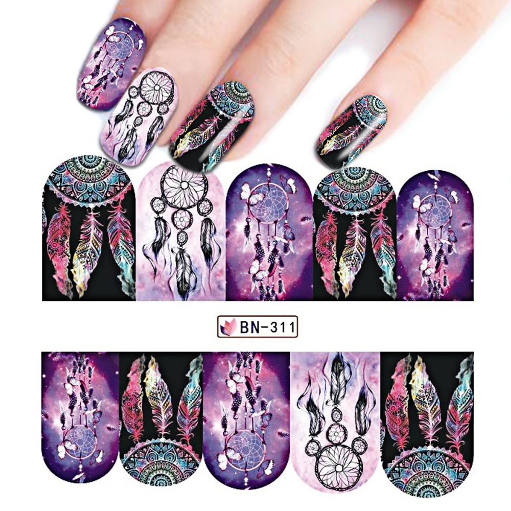 Book Cover Nail Art : Sheet windmill nail art water transfer sticker full cover