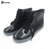 2016 Fashion New Arrival Rain Boots Waterproof Flat With Shoes Woman Rain Woman Water Rubber Ankle