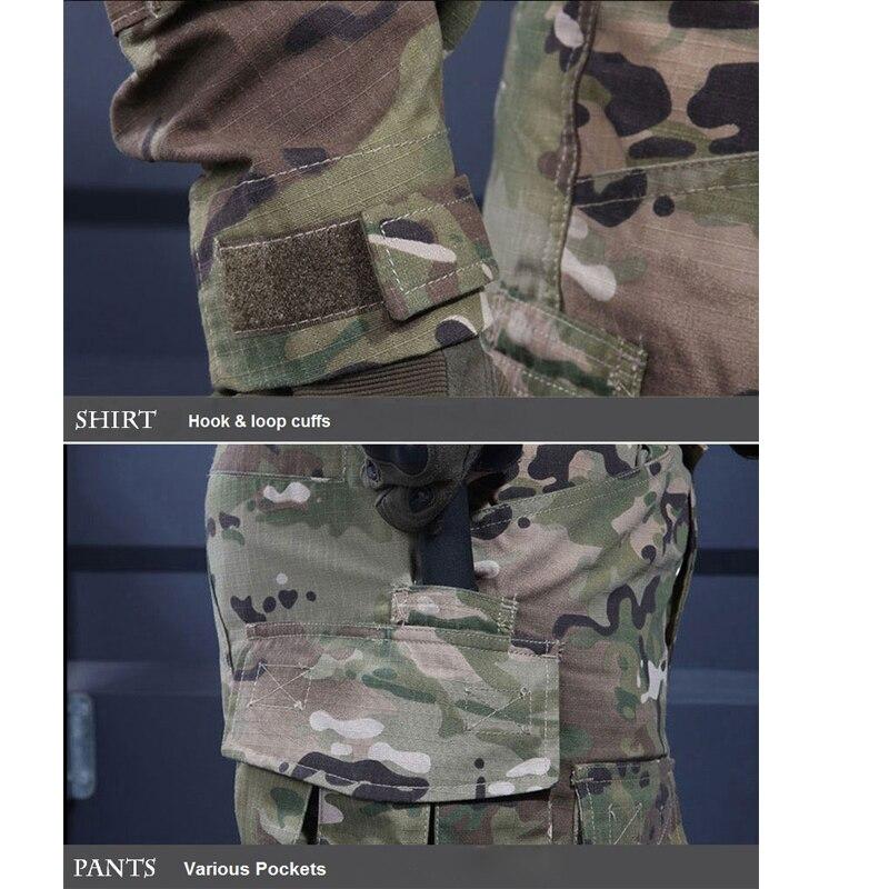 6 couleurs! Uniforme militaire tactique chemise + pantalon multicam uniforme Airsoft Paintball SWAT armée formation chasse Police costume - 5