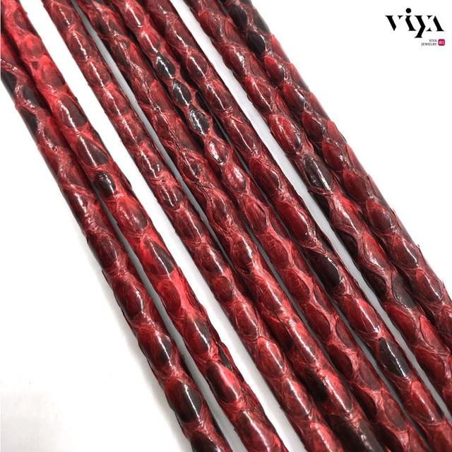 4 мм Глянцевый Красный Python Кожи Шнур 6 мм Браслет Роскоши Кожаный Шнур 2016 Топ Продажа 5 мм Высокое Качество кожаный Шнур