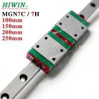 MGN7 HIWIN 1pcs Linear Rail 100mm 150mm 200mm with 2pcs MGN7H MGN7C Linear Block MGN 7 7mm Guideways