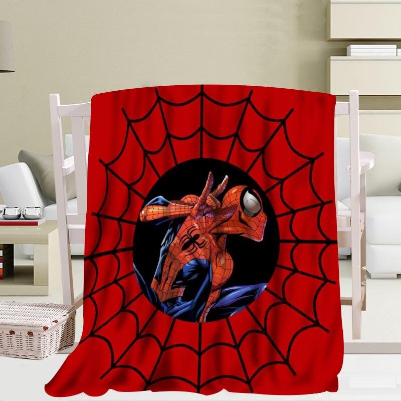 P + Spider-Man couverture doux bricolage canapé-lit jeter couverture enfant adulte chaud personnalisé couverture taille 56x80Inch50X60Inch40X50Inch