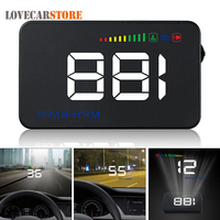 A500 3.5 Inch Car HUD Head Up Display Speedometer OBD2 OBDII EUOBD Auto Projector Parameter Display with Overspeed Warning