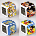 Dragon Ball Z Alarm Night Light Clock Lovely Popular Square LED Colorful Digital Electronic Clock Japan Anime Toys Small Gift #F