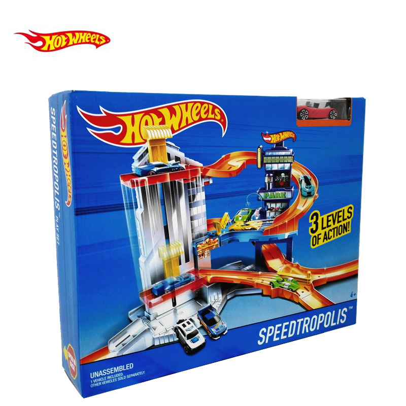 Original Hot Wheels Super Track Pack Plastic Metal Miniatures Cars Railway Brinquedo Educativo Hotwheels Toys For Children