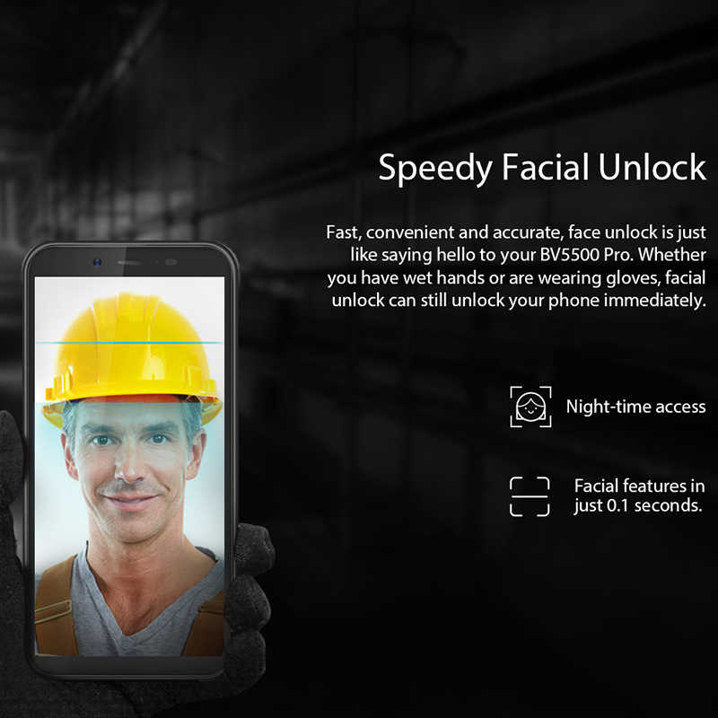 """Blackview BV5500 pro IP68 مقاوم للماء 4G الهاتف المحمول 3GB + 16GB 5.5 """"شاشة 4400mAh أندرويد 9.0 فطيرة المزدوج سيم هاتف ذكي متين"""