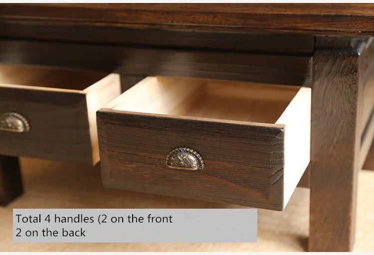 Japonés antiguo Muebles té mesa de madera armario dos cajones madera ...